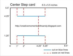 "center step panel cards | For my card, I decided to adapt it to a 6"" square card. Mostly because ..."