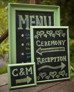 make your own chalk board. Yep, im doing this!