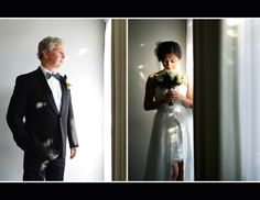 bride & groom getting ready for big day
