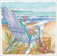 Cross Stitch Craze: Beach Cross Stitch Tide View