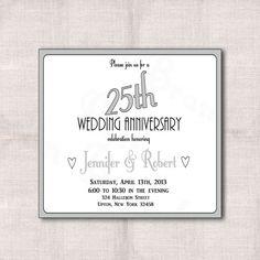 awesome 10+ 25 year wedding anniversary invitations