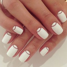 simple white nails