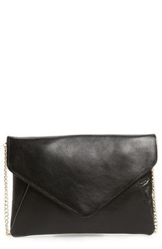 Halogen® 'Day to Night' Leather Envelope Clutch available at #Nordstrom