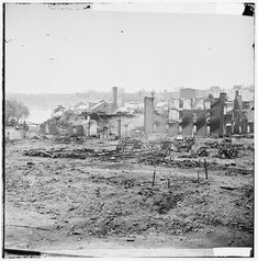 Guns and Ruined Buildings Near the Tredegar Iron Works - Richmond, VA, April 1865