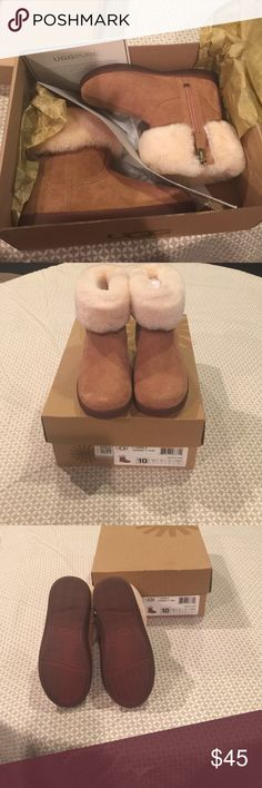 Ugg Australia T Jorie II  Size 10 Toddler Ugg boots for Toddler Size 10 in Chestnut! Used only once!!! Great for the months to come. Comes with box. Bought at Saks Fifth Avenue. UGG Shoes Boots
