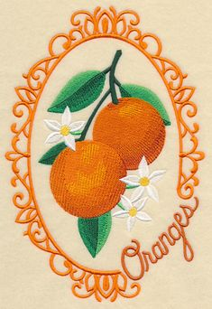 Fruit Cameo- Oranges Machine Embroidery Designs at Embroidery Library! Embroidery Motifs, Simple Embroidery, Free Machine Embroidery Designs, Embroidery Files, Floral Embroidery, Sewing Crafts, Sewing Projects, Diy Crafts, Embroidery On Clothes