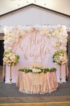 42 Glamorous Rose Gold Wedding Decor Ideas ❤ A gorgeous explosion of glitzy and glamorous rose gold! Take a look at the rose gold wedding decor ideas in our gallery below and get inspired! Chic Wedding, Wedding Table, Wedding Ceremony, Our Wedding, Dream Wedding, Bridal Table, Trendy Wedding, Wedding Bride, Perfect Wedding