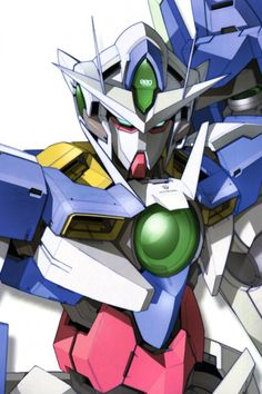 The GN-001 Gundam Exia (aka Gundam Exia, Exia, Gundam Seven Swords), is the close combat Gundam featured in both seasons of Mobile Suit Gundam 00. The unit is piloted by Setsuna F. Seiei.