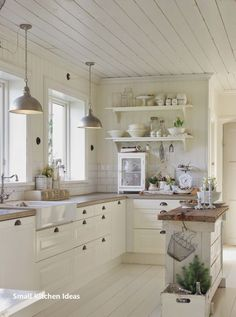 23 Charming Cottage Kitchen Design and Decoration Ideas That Add Coziness to . - 23 Charming Cottage Kitchen Design and Decoration Ideas That Bring Comfort to Your Home # - Farmhouse Kitchen Decor, Kitchen Redo, Kitchen Styling, Kitchen And Bath, New Kitchen, Kitchen Cabinets, Farmhouse Design, Basic Kitchen, Rustic Farmhouse
