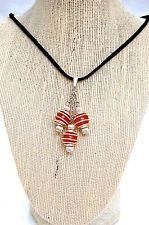 Natural Gemstone Pink Cherry Quartz Wire Wrapped Pendant Necklace Zen Chakra