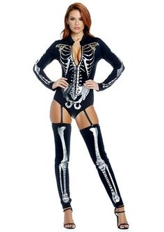 Adult Skeleton Pick A Bone Woman Costume | $52.99 | The Costume Land