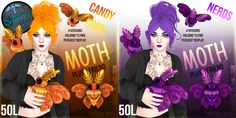 Candy Corn & Nerds Moth Plush Friends for Fifty Linden Friday! | Flickr - Photo Sharing!