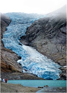 Briksdalsbreen (Briksdal glacier), Norway: Briksdal glacier is a part of the Jostedal glacier ice field, which is the largest glacier on the European mainland