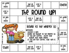 Here's a fun game for practicing rounding skills.