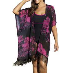 2016 Blouse Women Vintage Boho Floral Beach Cover Up Tops Chiffon Blouse Shirts Cardigan Cloth #Affiliate