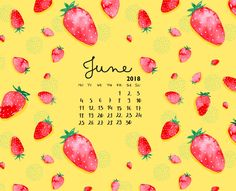 Cute June 2018 iPhone Calendar