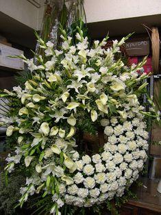 Funeral Floral Arrangements, Tropical Floral Arrangements, Church Flower Arrangements, Beautiful Flower Arrangements, Casket Flowers, Altar Flowers, Church Flowers, Funeral Flowers, Condolence Flowers