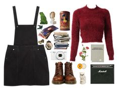 """""""Don't return to me, my love"""" by tarynasaurus ❤ liked on Polyvore featuring Monki, Dr. Martens, OKA, Burt's Bees, NOVICA, Lalique, women's clothing, women, female and woman"""