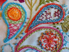 paisley embroidery...so many wonderful stitches!