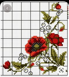 Beaded Cross Stitch, Cross Stitch Rose, Cross Stitch Flowers, Cross Stitch Designs, Cross Stitch Patterns, Hand Embroidery Patterns Flowers, Cross Stitch Pictures, Bargello, Baby Knitting Patterns
