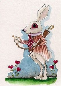Alice in Wonderland inspired characters... I think someone may be late... time is ticking little rabbit... Enjoy!