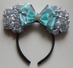 Inspired Elsa Rose Mouse Ears Disney Ears Headband, Diy Disney Ears, Minnie Mouse Headband, Disney Headbands, Disney Mickey Ears, Mickey Mouse And Friends, Ear Headbands, Disney Shirts, Disney Outfits