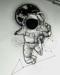 New tattoo designs men drawings fathers 59 ideas - tattoo! - New tattoo designs men drawings fathers 59 ideas – tattoo! Astronaut Tattoo, Astronaut Drawing, Astronaut Illustration, Astronaut Helmet, Space Illustration, Tattoo Drawings, Body Art Tattoos, Cool Drawings, New Tattoos