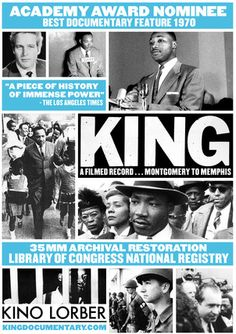 """""""King: A Filmed Record...Montgomery to Memphis""""--this critically-acclaimed documentary will be screened across the country next week in honor of the 50th Anniversary of the March on Washington!"""