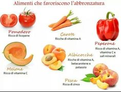 #Alimenti che favoriscono l' #abbronzatura