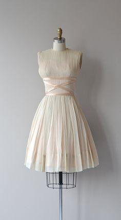Soft Parade dress 1950s silk chiffon dress vintage by DearGolden