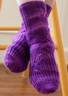 Ravelry: Circinus pattern by Rich Ensor Crochet Socks, Knitted Slippers, Knit Or Crochet, Knitted Bags, Knitting Socks, Knit Socks, Knitting Patterns Free, Free Knitting, Baby Knitting
