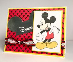 Drew's B'day by Pam MacKay - Cards and Paper Crafts at Splitcoaststampers Birthday Cheers, Birthday Cards, Disney Cards, Kids Cards, Paper Crafts, Snoopy, Fictional Characters, Art, Bday Cards
