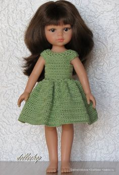 Вязаные платья без отделки. / Paola Reina, Antonio Juan и другие испанские куклы / Бэйбики. Куклы фото. Одежда для кукол