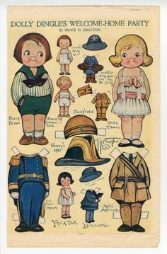 75.2969: Dolly Dingles Welcome-Home Party | paper doll | Paper Dolls | Dolls | National Museum of Play Online Collections | The Strong