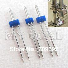 3 pçs/set gêmeo agulha 2.0 / 90, 3.0 / 90, 4.0 / 90 máquina de costura agulhas pinos [ 210319 ](China (Mainland))
