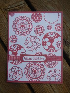 Handmade Stampin Up Birthday Card  Circle Circus by StampinandStitchin, $3.00