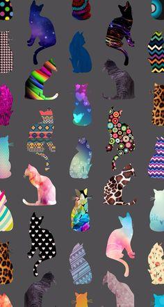 Colorful cat wallpaper