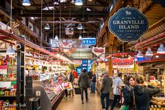 inside the food market in granville island vancouver