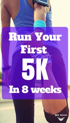 From Walker to Runner: Run Your First 5K in 8 Week! @DIYactiveHQ #cardio #5ktraining #running