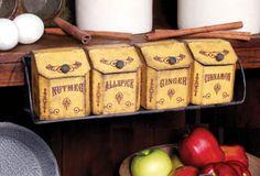27584 - Vintage Spice Bin Rack