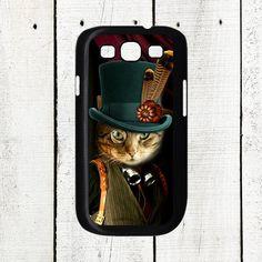 Steampunk Cat Samsung Galaxy S3 Case by Arete on Etsy, $16.00