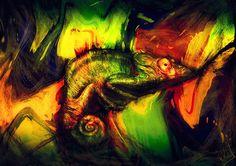 Chameleon by RuslanKadiev.deviantart.com on @DeviantArt