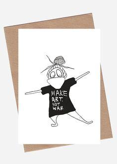 Make Art Not War via SpilledAase.com. Click on the image to see more!