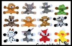 Cute Plush Animal Magnets - Locker Critters - Fridge Magnet - Cute - M | Curious Minds Busy Bags Classroom Rewards, Cool Poses, Cute Plush, Busy Bags, Sensory Toys, Plush Animals, Perfect Party, Soft Fabrics, Lockers