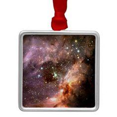 Stellar Cluster metal christmas ornament