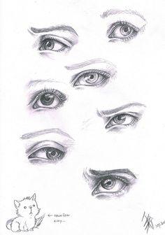 expressive eyes by oomizuao http://frozennova.deviantart.com/art/Eyes-Study-13726221