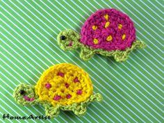 Schildkröten Applikation häkel - Freie Farbwahl von Home Artist auf DaWanda.com