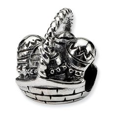 Sterling Silver Easter Themed Bead   Easter Basket Bead 45% Off Coupon Available Upon Request  Will fit Pandora Name Bracelets #Bead #Charm #ReflectionBead #Jewelry #Easter