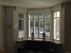 living room ideas – New Ideas Window Shutters, Bay Window, Bedroom Windows, Beautiful Homes, Blinds, New Homes, Lounge, Curtains, Interior