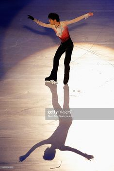 Yuzuru Hanyu of Japan performs during in the Gala Exhibition on day three of Trophee Eric Bompard ISU Grand Prix of Figure Skating 2013/2014 at the Palais Omnisports de Bercy on November 17, 2013 in Paris, France.